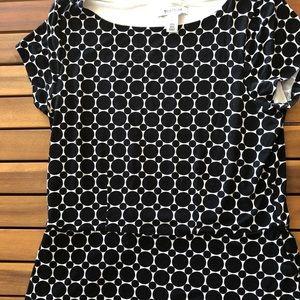 White House Black Market s/s polka dot shirt